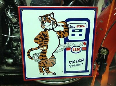 VINTAGE PORCELAIN ESSO EXTRA PUT A TIGER IN YOUR TANK Ford Chevy Mopar Harley