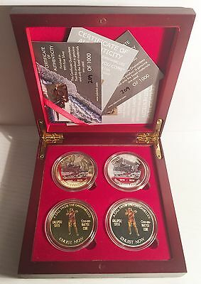 2015 Boxed Set of 4 x 1 oz 100 year Anniv Gallipoli Coins Ltd to only 1000 Sets