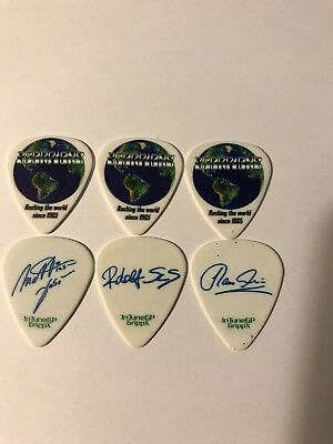 Scorpions 3 Guitar Pick Lot Collection  Rocking The World Since 1965
