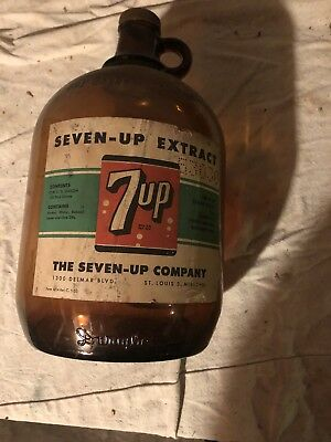 7up Extract Syrup Bottle Gallon