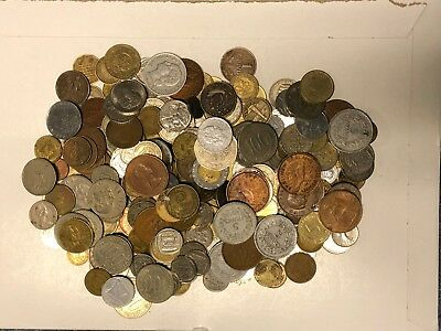 Lot of +3 Pounds (48.9 ounces) of world coins - old and new