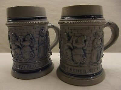 Simmons & Hammond Portland Maine 2 Root Beer Soda Mugs 2 Different Rare Version