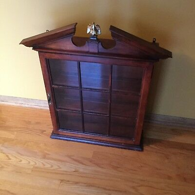 Vintage 1940s Wall Hanging Curio Cabinet
