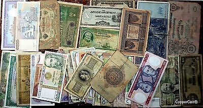 Estate of 60 + World Currency  Many 100 + Year Greek PhLP Russia, Japan Currency