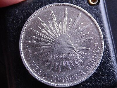 Mexico 1 Peso PORFIRIANO 1902 Mo AM, KM#409,2 Nice Condition
