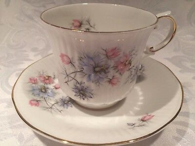 Beautiful Queen's Rosina Fine Bone China Tea Cup and Saucer with Flowers