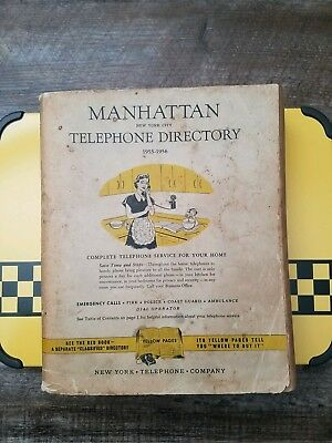 Vtg 1955 1956 MANHATTAN NYC NY Telephone Phone Book Phonebook Directory TRUMP