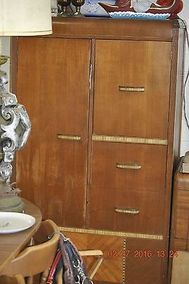 LOCAL PICK UP ONLY : 1930s Waterfall Wardrobe Closet