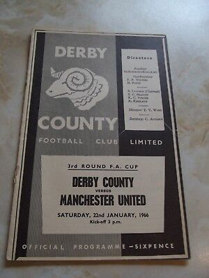 DERBY COUNTY v MANCHESTER UNITED  FA CUP GAME 1965-66 inc GEORGE BEST