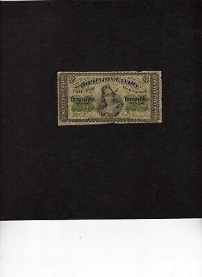 "1870 Dominion Of Canada Twenty Five Cents ""shinplaster"" Note"