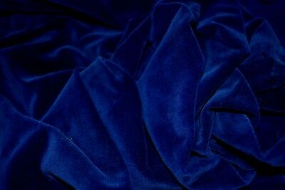Rich Luxurious Sapphire Blue Antique/Vintage Velvet Fabric Salvaged for Dolls
