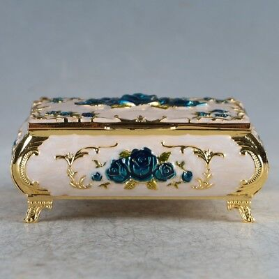 Chinese Exquisite Cloisonne Handmade Carved Jewelry Box JTL3003