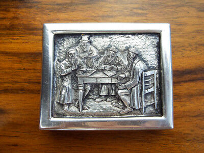 Vintage Religious Art Henryk Winograd Pure Silver HW999 Repousse Paperweight