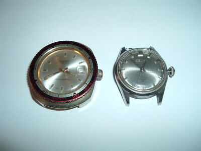 Lot of Two Mens Vintage Watches Dorset World Time, Seiko 66-7970-P