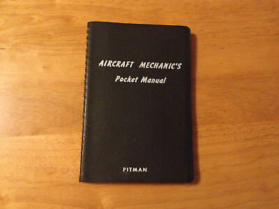 1941 Aircraft Mechanic's Pocket Manual Aviation Collectible Booklet Vintage