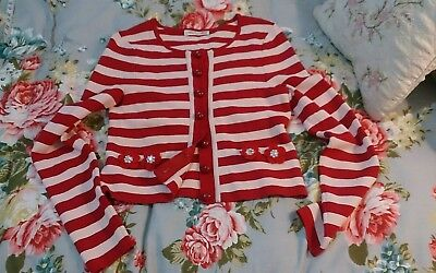 Alannah hill red and white stripe jacket cardigan size 10