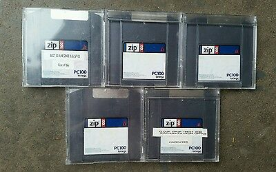 Floppy disks x 5 zip 100 PC100 iomega