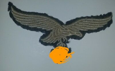 Vintage WWII GERMAN Luftwaffe Officers Breast Eagle WW2 Embroidered Patch