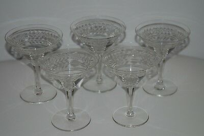 5 Coupes A Champagne - Cristal - Anciennes