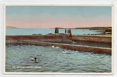 """""postcard The Baths At Salthill,galway,ireland"""""