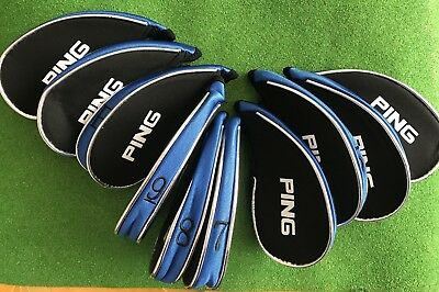 Brand New Ping Iron Zipped Covers Pack Of 10 4-LW Ping Head Covers