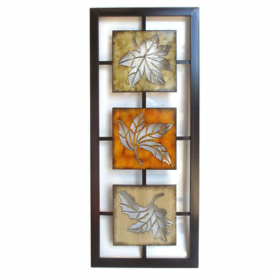 Autumn Leaves Metal Wall Art Ornament Hanging Decor 76cm