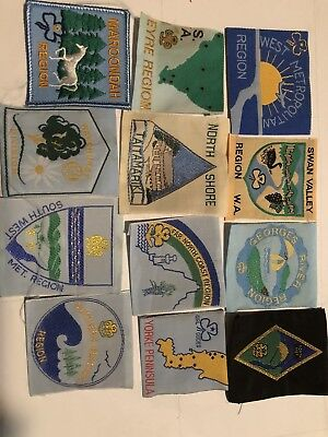 A Variety Of District / Region Girl Guide Badges