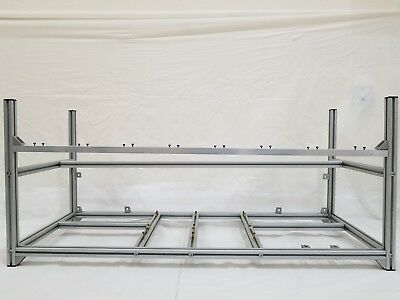Aluminum OPEN AIR MINING FRAME Case For Up To 8 GPU ETH/ZEC/Bitcoin