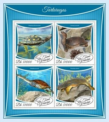 Z08 IMPERF ST17510a Sao Tome and Principe 2017 Turtles MNH Mint