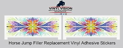 Plastic Show Jump Filler Replacement Stickers Horse, Equestrian, spooky,