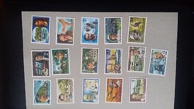 CHRISTMAS ISLANDS - 1977-78 Famous Visitors mint stamp Set (SG 67-82)