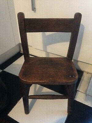 Old Wooden Childs School Chair