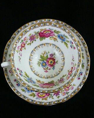 Royal Grafton Fine Bone China Floral Tea Cup & Saucer - Malvern #9271 England