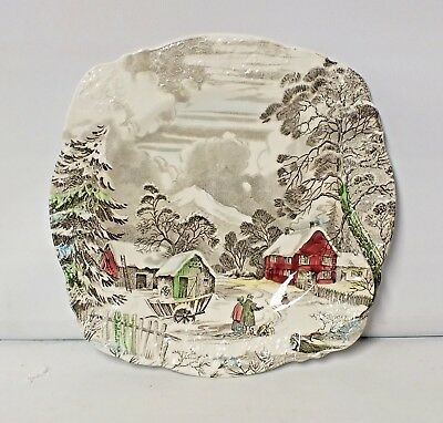 Meakin English Staffordshire Welcome Home plate