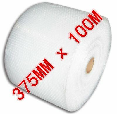 Bubble Cushioning Wrap 375mm x 100M Roll Clear Polycell P10 10mm Bubbles