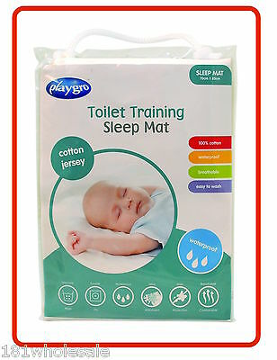 ❤ Cotton Jersey PLAYGRO Sleep Toilet Training Mat WATERPROOF MATTRESS PROTECTOR