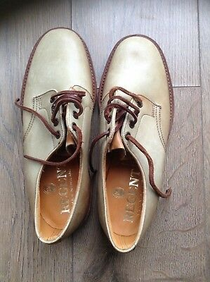 Regent Men's Leather Shoes UK Size NO 6 Commando Style Made In England ~( NEW )