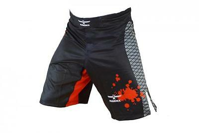 MMA Shorts schwarz-rot-grau, Stretch