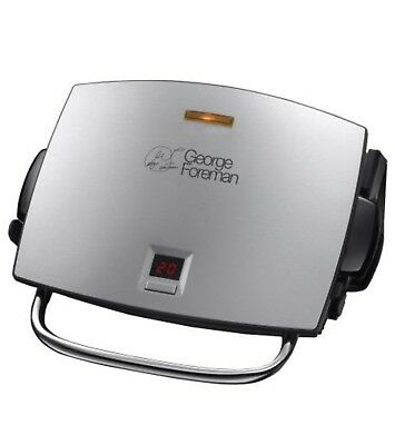 George Foreman 4-Portion Family Grill and Melt with Removable Plates Silver