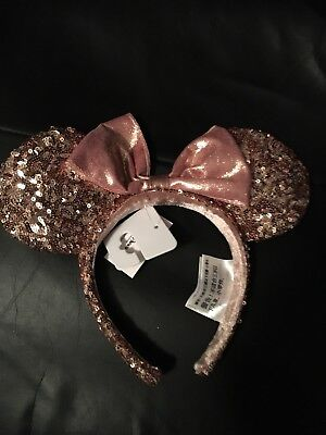 NWT Authentic Disney Parks Rose Gold Minnie Mouse ears. (Mickey Mouse ears)