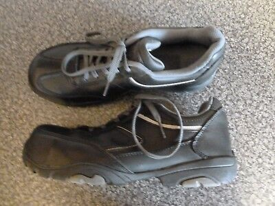 Psf Terrain Black Work Shoes With Steel Toe Cap Size 5 In Great Condition