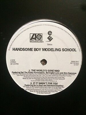 "Handsome Boy Modeling School - The World's Gone Mad / If It Wasnt 12"" Vg C"