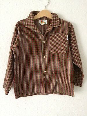 Vintage Kids 80s 90s Rodeo Cowgirl Cowboy Western Checked Novelty Shirt 3 4 Y