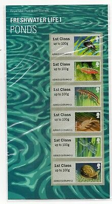 GB 2013 Freshwater Life I (1) Ponds Post and Go Presentation Pack VGC stamps