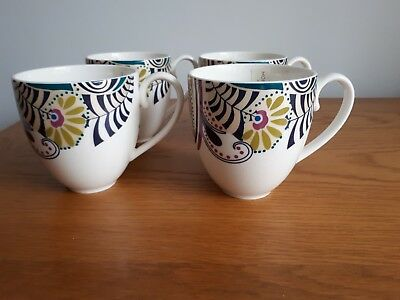 Denby Monsoon Cosmic Large Mugs Set of 4 New unused Perfet Condition