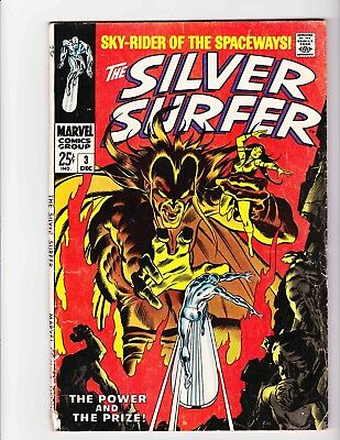 SILVER SURFER #3 Dec 1968 MEPHISTO - Condition 2.0 GD BIG Issue