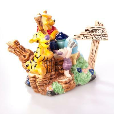 Paul Cardew Disney Showcase Collection Rhapsody in Pooh Teapot Tigger and Piglet