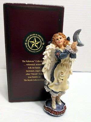 Boyds Folkstones Blue Angel Luminette The Light of the Silvery Moon #28207-06