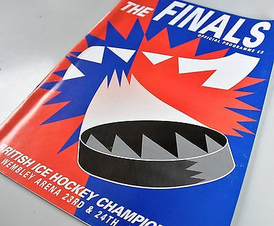 ice hockey programme The FINALS Championship Wembley 1994 Devils Steelers Flyers