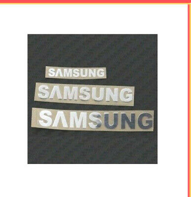 1x Silver Samsung Sticker TV Laptop Ipad Mobile 60 mm x 8 mm Appr0x